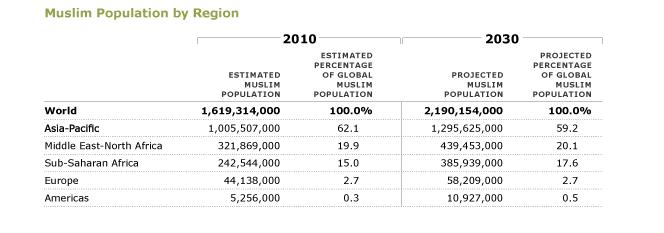 イスラム教徒人口グラフ
